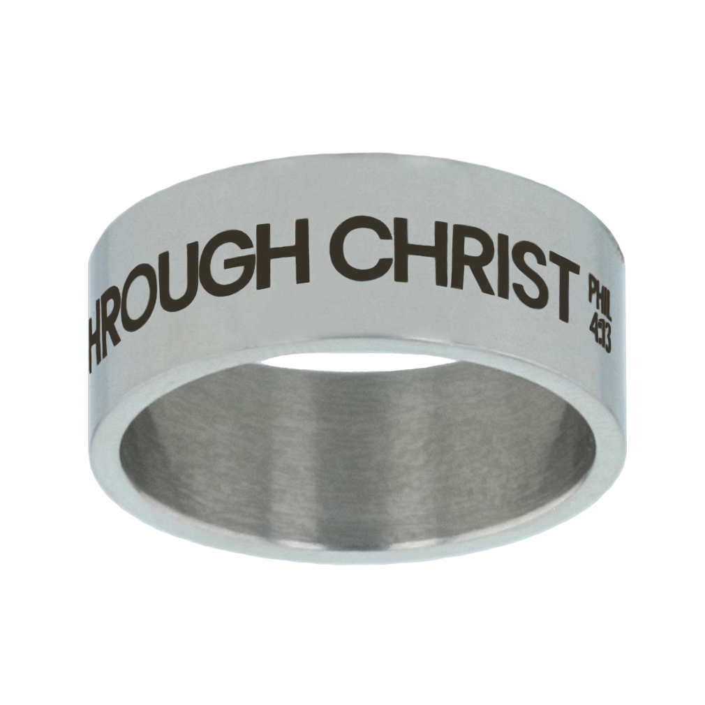 I Can Do All Things Through Christ Wide Flat Ring - LDP-RNG15-ICANDO