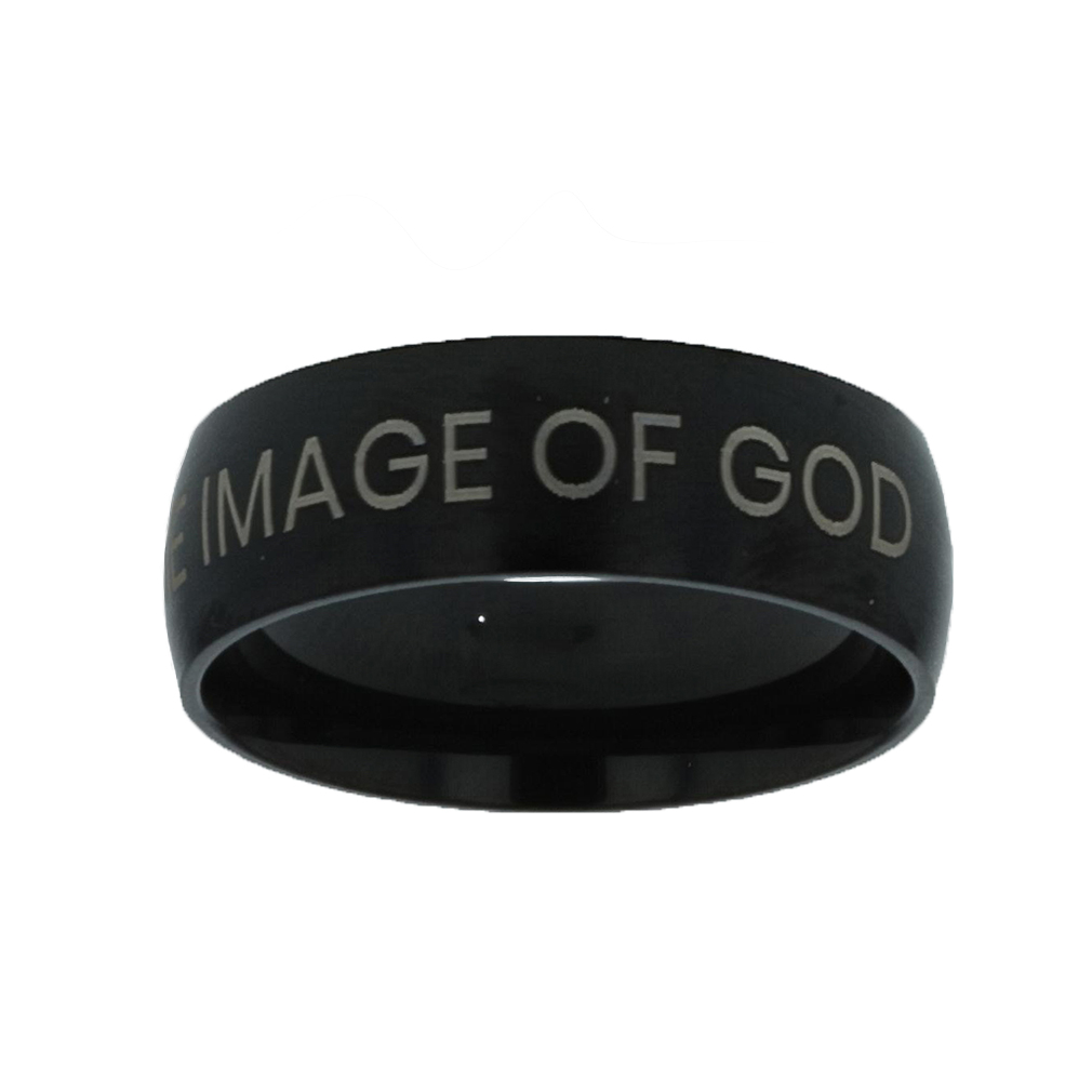 Made in the Image of God Black Domed Ring give me jesus,black domed ring,christian jewelry
