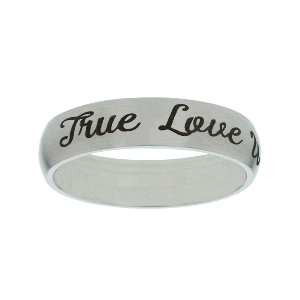 True Love Waits Narrow Silver Ring christian jewelry,christian ring,matte narrow silver ring,womens ring,christian womens ring