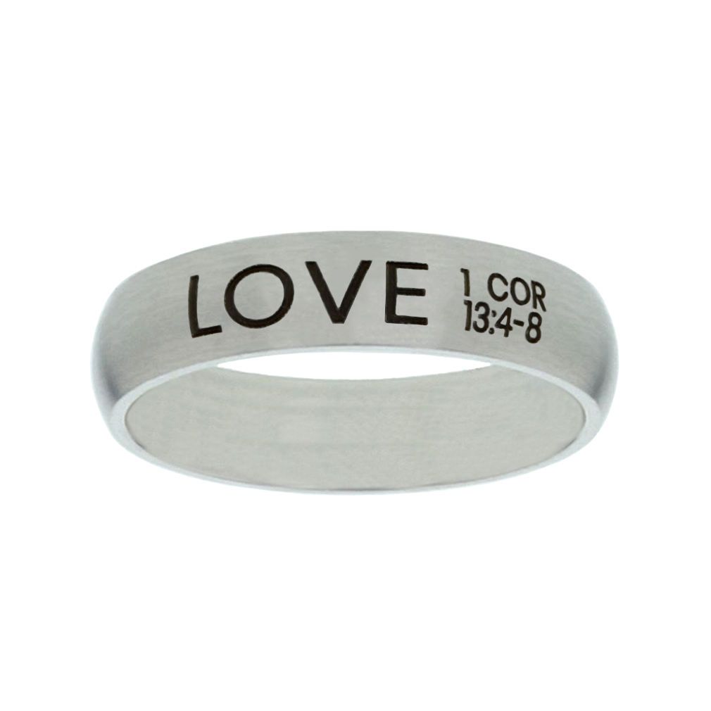 Love Matte Narrow Silver Ring christian jewelry,christian ring,matte narrow silver ring,womens ring,christian womens ring