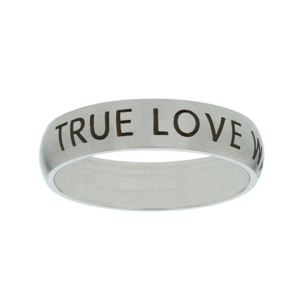 True Love Waits Narrow Silver Ring - FP-RNGF-TLW