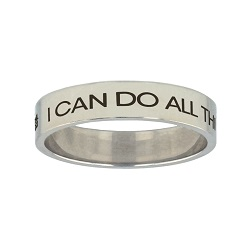 I Can Do All Things Through Christ Mini Flat Ring i can do all things through christ ring,