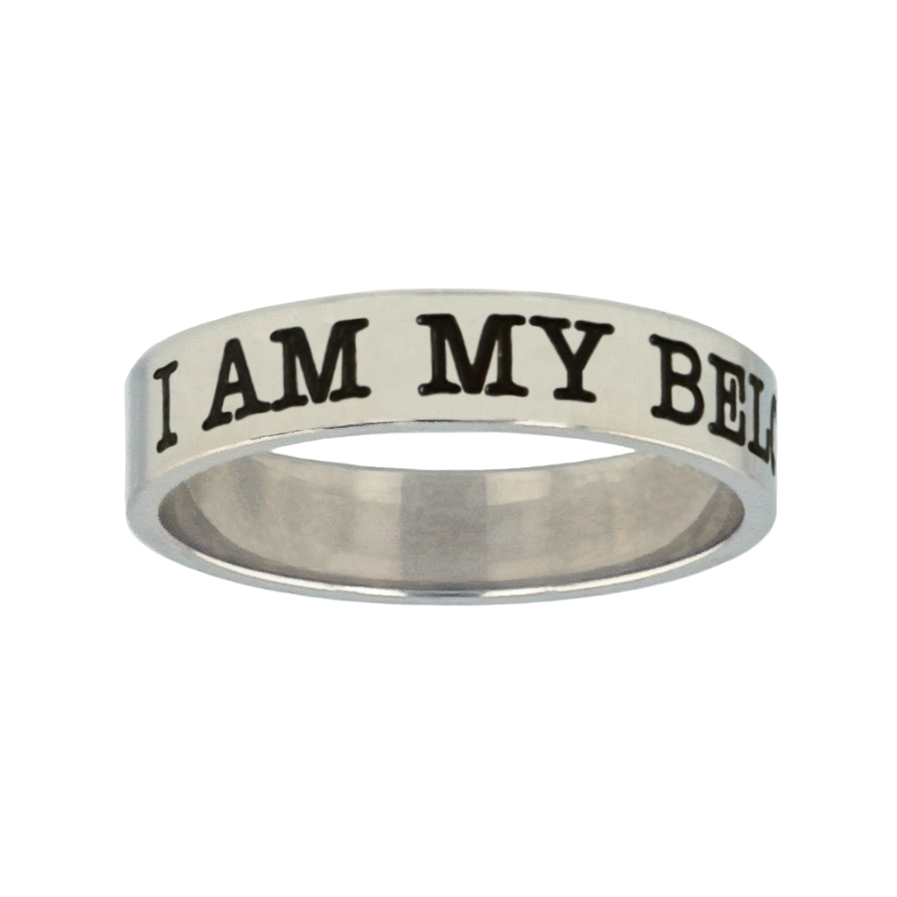 I Am My Beloveds Silver Flat Narrow Ring christian jewelry,christian ring,silver flat narrow ring,womens ring,christian womens ring
