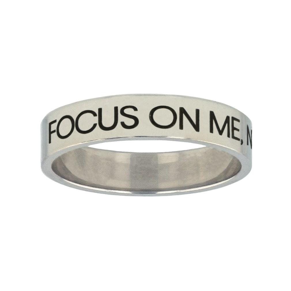 Focus on Me, Not the Storm Silver Flat Narrow Ring christian jewelry,christian ring,silver flat narrow ring,womens ring,christian womens ring