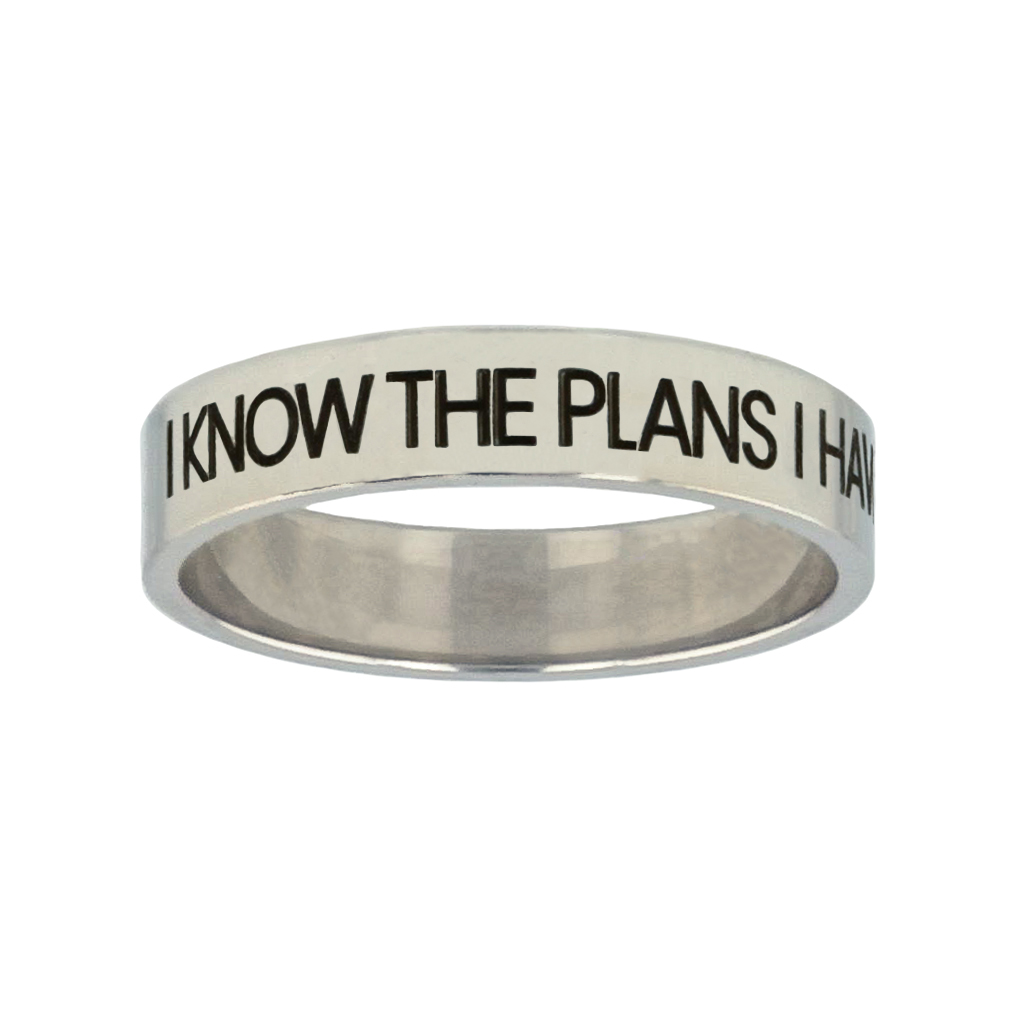 I Know the Plans I Have For You Silver Flat Narrow Ring christian jewelry,christian ring,silver flat narrow ring,womens ring,christian womens ring