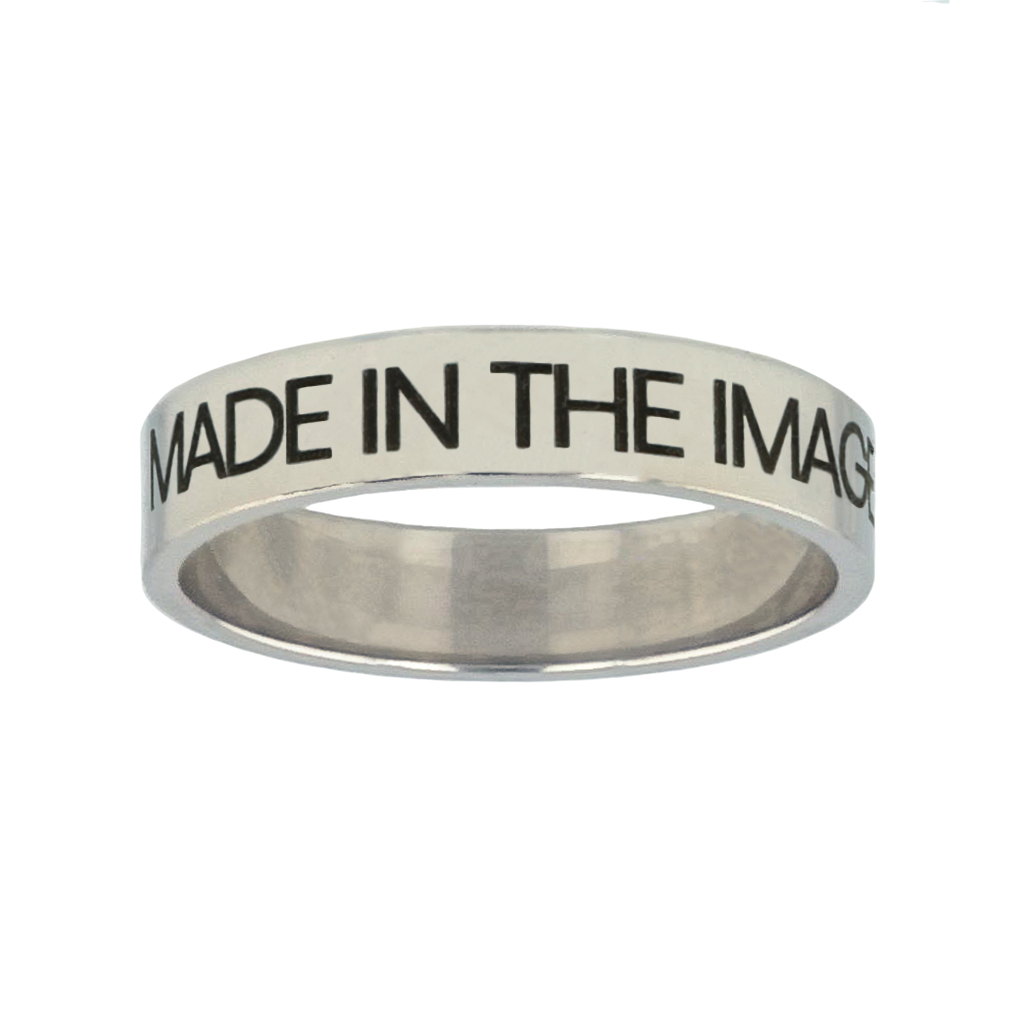 Made in the Image of God Silver Flat Narrow Ring christian jewelry,christian ring,silver flat narrow ring,womens ring,christian womens ring