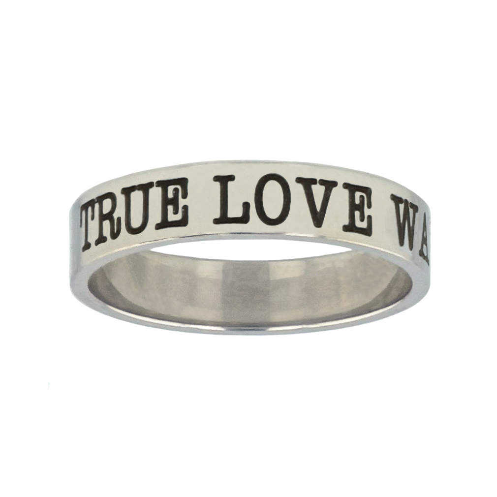 True Love Waits Silver Flat Narrow Ring christian jewelry,christian ring,silver flat narrow ring,womens ring,christian womens ring