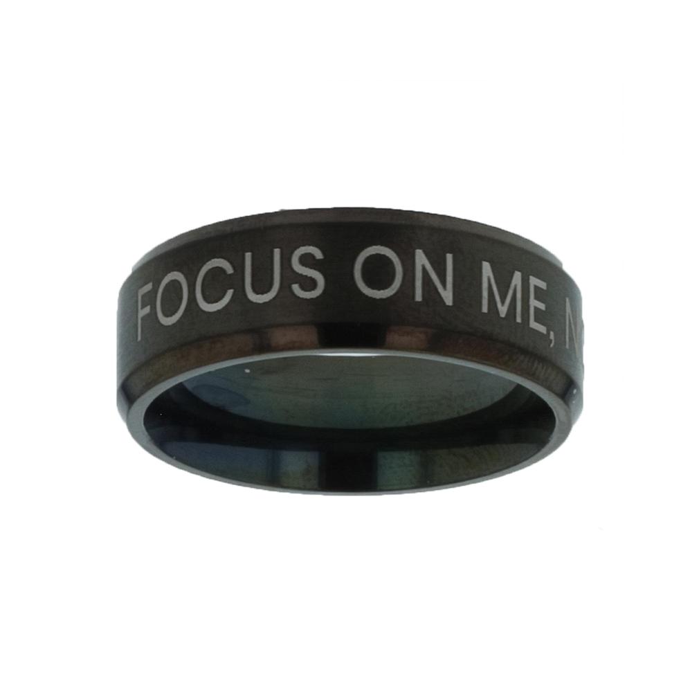 Focus on Me, Not the Storm Black Beveled Ring christian jewelry,christian ring,black beveled ring,mens rings,mens black ring
