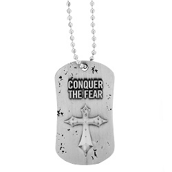 Conquer the Fear Dog Tag