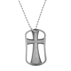 Genesis 26:24 Cut Out Cross Dog Tag