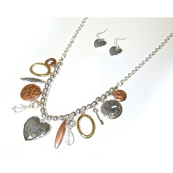 Love Tritone Necklace Earring Set