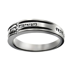 True Love Waits Diamond Cross Ring
